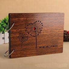 Album ảnh bìa gỗ 22x16cm, nhiều mẫu phong phú