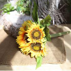 1 bó hoa hướng dương cỡ to gồm 7 cành - hoa giả nhân tạo