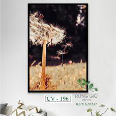 Khung tranh vải canvas hình hoa bồ công anh (CV196)