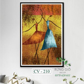 Khung tranh vải canvas nghệ thuật múa đương đại (CV210)