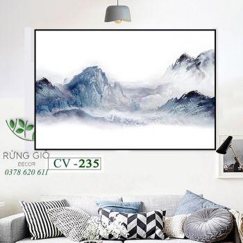 Khung tranh vải canvas nghệ thuật phương đông (CV235)