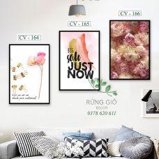 Khung tranh vải canvas big sale just now (CV164-165-166)