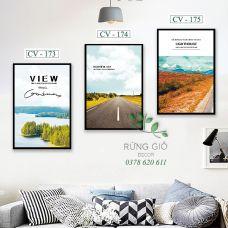 Khung tranh vải canvas hình phong cảnh thiên nhiên (CV173-174-175)