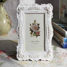 Khung ảnh để bàn hoa hồng trắng